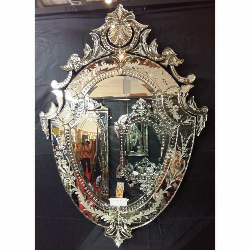 Venetian mirror black mg 013057 venetian wall mirror for Black venetian mirror