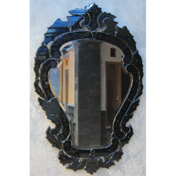 Venetian mirror black mg 013067 venetian wall mirror for Black venetian mirror