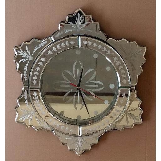 Super Clock Glass Mirror | Venetian Wall Mirror - Antique Venetian  PM23