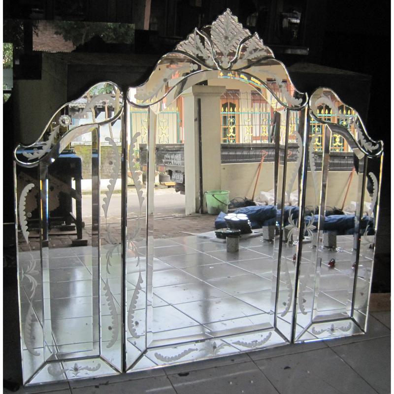 Tri Fold Mirror Venetian Wall Mirror Antique Venetian