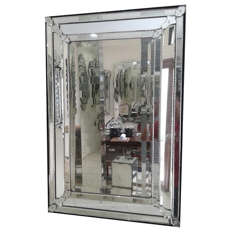 Rectangular Venetian Mirror In The Living Room.