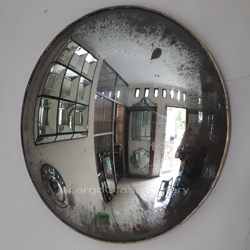 Preferred Antique Convex Round Mirror MG 050001 – Venetian Wall Mirror  OP69