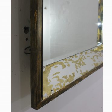 Etched Wall Mirror Gold
