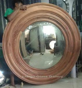 Antique glass mirror panel