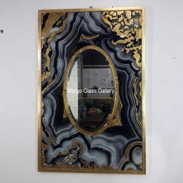 agate stone style mirror