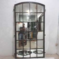 Industrial Metal Frame Mirror