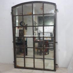 Industrial Metal Frame Window Mirror