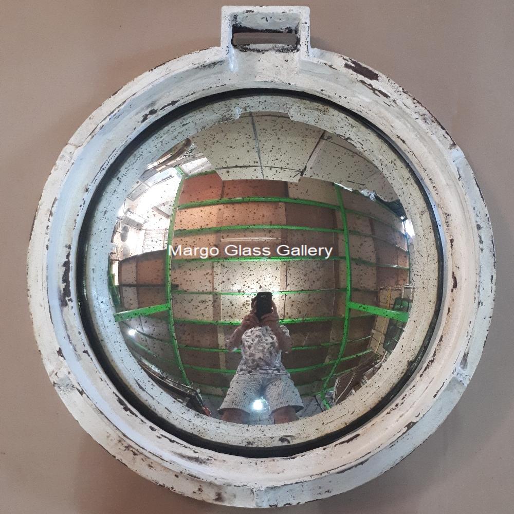 Industrial metal frame mirror