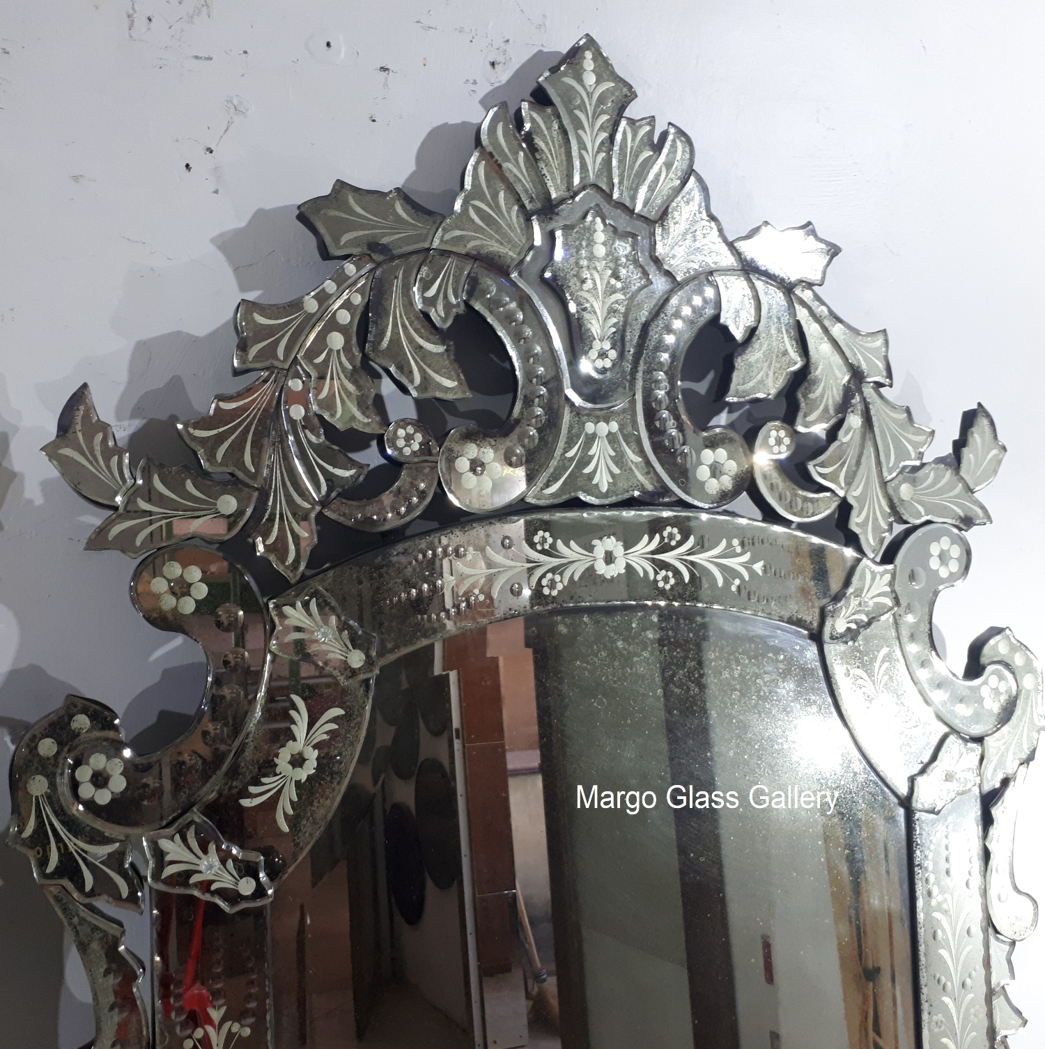 Distressed venetian mirrors