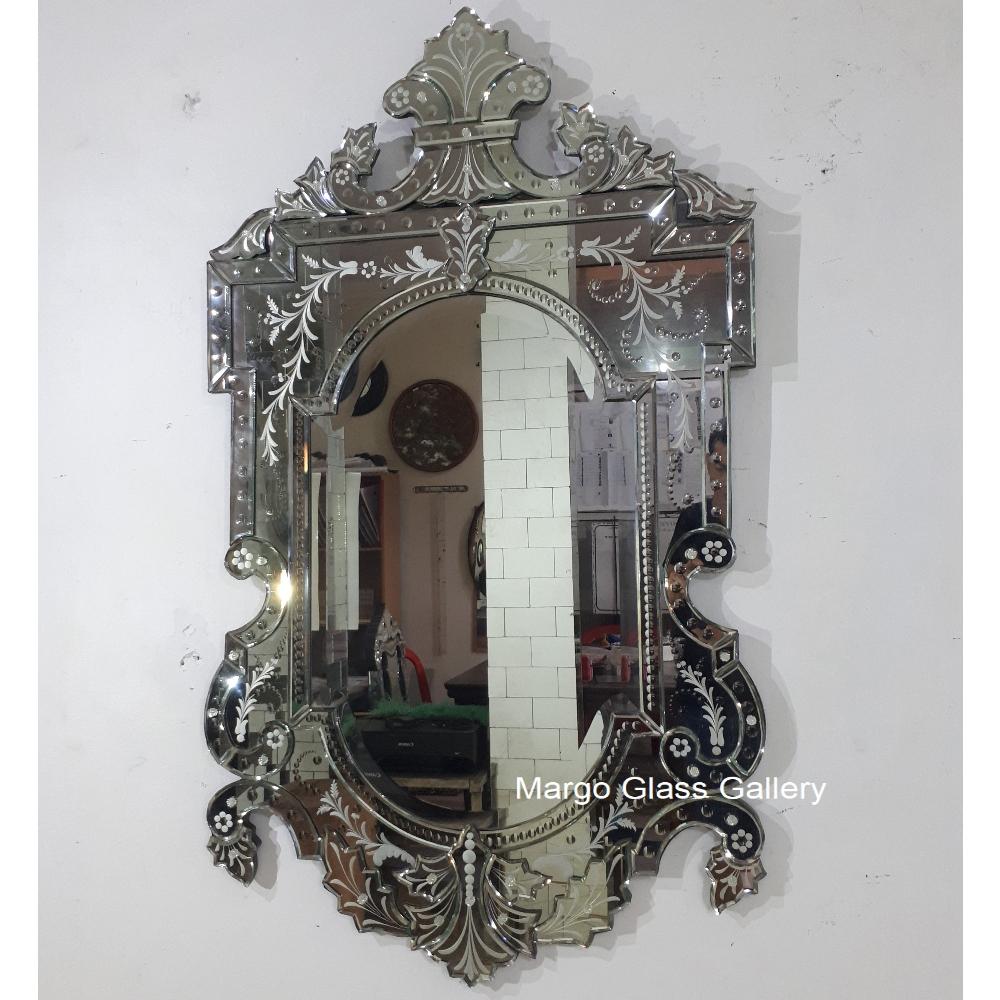 Antique mirror bathroom