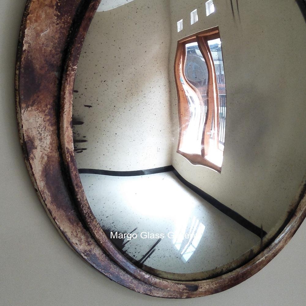 MG 022002 MG 022001 Industrial Metal Frame Mirror