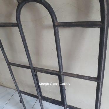 MG 022006 Industrial Metal Frame Mirror 120x60cm