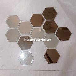 MG 065025 Octagonal bevel Cermin Dinding Hexagonal