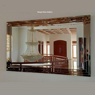 MG 065034 Cermin Dinding Frame Brown 3 Tumpuk